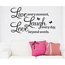 živjeti svaki trenutak smijeh i ljubav citat zid decal zooyoo8023 dekorativne prijenosnih vinil zidne naljepnice