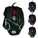 2015 nový 5500 dpi 6 tlačítek 7d vedl Optická USB pevné kovové Gaming Mouse myši na notebooku profesionální hráče
