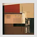 Ručně malované AbstraktníModerní / evropský styl Jeden panel Plátno Hang-malované olejomalba For Home dekorace