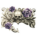 lidská kostra dech smrti Purpurová růže tetování samolepky dočasné tetování (1 ks)