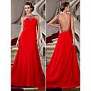 Formal Evening Dress - Ruby Plus Sizes A-line/Princess Jewel Court Train Chiffon