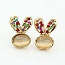 Naušnica Sitne naušnice Jewelry 2pcs Umjetno drago kamenje / Pozlaćeni Žene Zlatna