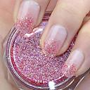 červená třpytky prášek nail art ozdoby
