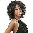 ženy Lady short umělých vlasů paruky výstřední kudrnaté černá barva horké prodej.