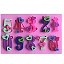 心臓番号0-9形フォンダンケーキチョコレートシリコーンモールド金型、装飾ツール耐熱皿