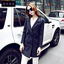 Women's Long Sleeve Tweed/Polyester Trench Coat , Vintage/Casual/Cute/Party/Work