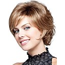 新しいウィッグ耐熱コスプレ新しい短いライトブラウンミックス巻き毛の女性のフルウィッグ