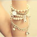 女性 ヴィンテージブレスレット 真珠 人造真珠 合金 ファッション シルバー ゴールデン ジュエリー 1個