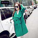 Women's Long Sleeve Polyester Trench Coat , Vintage/Casual/Cute/Party/Work/Plus Sizes