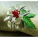 Kristalno cvijet ukras salveta prsten, akril, 1.77inch, set od 12