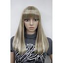 přírodní blond mix zvýraznění heterosexuální ženy plné umělých vlasů paruka