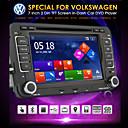 """7 """"2 DIN pantalla táctil lcd reproductor de DVD del coche para Volkswagen con el poder-autobús, bluetooth, GPS, iPod, entrada, rds, radio, atv"""
