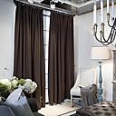 Dvije zavjese Prozor Liječenje Zemlja / Moderna / Neoclassical / Mediterranean / Europska / Dizajnerske , Jednobojni BedroomPosteljina /