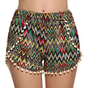 Women's Mid Rise Tassel Shorts , Cotton Beach/Casual Shorts Zhuoxini