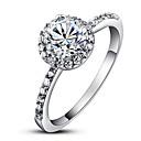 Prstenje Moda Vjenčanje Jewelry Kubični Zirconia Žene Prstenje sa stavom 1pc,Univerzalna veličina Srebrna