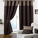 Dva panely Window Léčba Moderní Obývací pokoj Polyester Materiál Blackout Záclony závěsy Home dekorace For Okno
