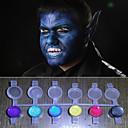 Lice slika čarobnu biser svjetlo sja boje pigmenta Halloween tijelo slikarstvo lice deco (8 boja postavljena s alatima)