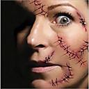 5ks horké halloween make-up dekorace kostým zombie jizvy dočasné tetování