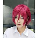 Lanting cos gratis rin Matsuoka wijn rode korte cosplay pruik partij anime hair