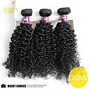 3pc puno Indijka djevica kosu duboko kovrčava valne neprerađeno ljudske kose tkati snopovi jeftini indijski kinky kovrčava kosa ekstenzije