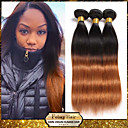"""1pcs / lot 10 """"-24"""" yang belum diproses rambut perawan Malaysia two tone 1b / 30 ombre lurus menenun rambut manusia"""