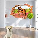 動物 / 植物の / クリスマス / カートゥン / ロマンティック / ファッション / 風景画 / 形 / 3D ウォールステッカー 3D ウォールステッカー , PVC 90cm x 60cm( 35in x 24in )