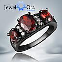 Prstenje Moda Party Jewelry Kubični Zirconia / Pozlaćeni Žene Klasično prstenje 1pc,Univerzalna veličina Crna / Crvena