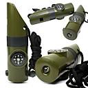 Kompasi / Termometri / Povećalo / opstanak Whistle / signal Mirror / Survival Kit Kampiranje Zviždaljka Plastika Zelen