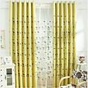 2パネル ウィンドウトリートメント 田舎風 ベッドルーム リネン/コットン混 材料 カーテンドレープ ホームデコレーション For 窓