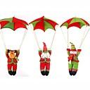 サンタパラシュートクリスマスツリー吊り飾りクリスマスの装飾(色ランダム)の1pcs