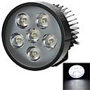 projecteur yk01 15w 6-LED blanc froid de 900lm 8000k pour electrombile / moto / tricycle (12 ~ 80v)