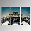 Slobodno vrijeme / Photographic / Moderna / Romantični / Pop art / Putovanje Canvas Print Tri plohe Spremni za objesiti , Vertikalno