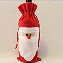 サンタクロースワインバッグ父クリスマスギフトバッグクリスマスの飾りの1PCS
