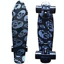 srebrna lubanja grafički tiskani plastične skateboard (22 inča) krstaš ploča s abec-9 ležaja
