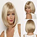 fashion lady blond barva střední dlouhé vlasy syntetické paruky horké prodej.
