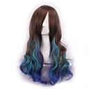 cos periku tamne tri gradijent boje Japan izvornika sufeng kovrčave kose perika