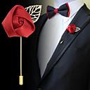 男性用 女性 ブローチ ファブリック 合金 ファッション ダークブルー パープル ワイン ジュエリー 結婚式 パーティー 誕生日 日常 カジュアル