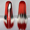Lolita perika Sweet Lolita Prijelaz boje Dug Srebrna Lolita Perika 80 CM Cosplay Wigs Kolaž Wig Za Žene