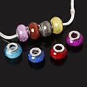 beadia 10個入り樹脂大きな穴ビーズフィット欧州のネックレスのブレスレットを10x14mm
