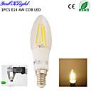 4W E14 LED svíčky C35 4 COB 400 lm Teplá bílá Ozdobné AC 220-240 AC 110-130 V 1 ks