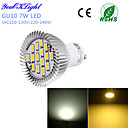 7W GU10 LED reflektori G50 15 SMD 5630 600 lm Toplo bijelo / Hladno bijelo Ukrasno AC 220-240 / AC 110-130 V 1 kom.