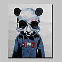Ručně malované Abstraktní / Slavné / ZvířeModerní Jeden panel Plátno Hang-malované olejomalba For Home dekorace