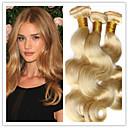 3pcs/lot 8A Brazilian Virgin Hair Body Wave Honey Blonde Human Hair Extensions 8-34Inches,No Tangle,No Sheding