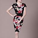 LIFVER 女性 ラウンドネック ショート 膝上 ドレス - 140022