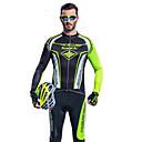 男性用 - 高通気性 / 抗紫外線 / 透湿性 / wicking / 3Dパッド / 反射性ストリップ - レジャースポーツ / サイクリング - 洋服セット/スーツ ( グリーン ) - 長袖