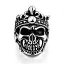 Prsten Nerez Skull shape Klasický Stříbrná Šperky Halloween Denní Ležérní Sport 1ks