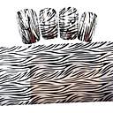 5ks nový 100x4cm 2016 stříbrný proužek lesk stříbrné pruhy hřebík fólie pro kutily ozdoby nail art samolepky stzxk56