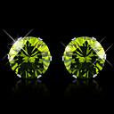 Naušnica Sitne naušnice Jewelry 1pc Kubični Zirconia / Titanium Steel Žene Bijela / Roza