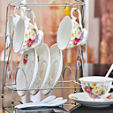 keramický šálek čaje 4 * 3ks odpolední čaj porcelán Britský styl náhodné barvy