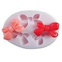 Tri Rupe Bowknot Ovalni silikona Fondant plijesni Sugar alatki Smola Cvjetovi plijesni kalupe za kolače